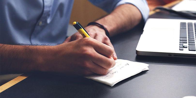 Thrive Man Writing